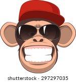 vector illustration  funny... | Shutterstock .eps vector #297297035