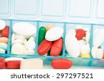 medicine tablet and capsule in... | Shutterstock . vector #297297521