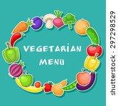 vegetarian background with... | Shutterstock .eps vector #297298529