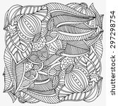 pattern for coloring book. ... | Shutterstock .eps vector #297298754