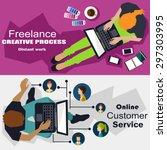 teleworking | Shutterstock .eps vector #297303995