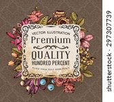 vintage vector card with... | Shutterstock .eps vector #297307739