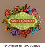 vintage vector card with... | Shutterstock .eps vector #297308801