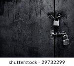Lock On Iron Door