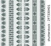 set traditional vintage greek... | Shutterstock .eps vector #297330401