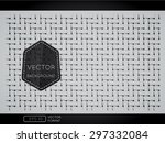 abstract weave pattern... | Shutterstock .eps vector #297332084