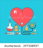 medical and lab equipment | Shutterstock .eps vector #297338957