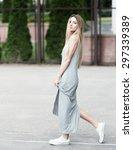 beautiful hipster girl | Shutterstock . vector #297339389