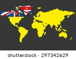 an illustrated map of the world ... | Shutterstock .eps vector #297342629