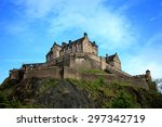 edinburgh castle. | Shutterstock . vector #297342719