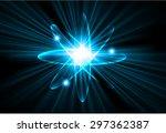 dark blue color light abstract...   Shutterstock .eps vector #297362387