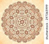 vector floral henna design...   Shutterstock .eps vector #297365999