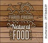 farm food digital design ... | Shutterstock .eps vector #297368639