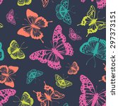 Vector Butterflies Pattern....