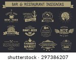 vintage badges and insignias... | Shutterstock .eps vector #297386207