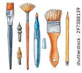 art crafts. vector watercolor... | Shutterstock .eps vector #297388139