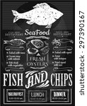 Fish And Chips Poster. Menu For ...