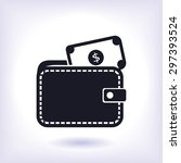 wallet with dollars icon | Shutterstock .eps vector #297393524