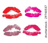 lips  kiss colored | Shutterstock .eps vector #29740537