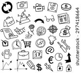 business idea doodles icons.... | Shutterstock .eps vector #297418664