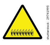 razor wire hazard sign | Shutterstock . vector #29741995