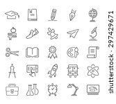 education outline icon set   Shutterstock .eps vector #297429671