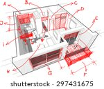 3d illustration perspective... | Shutterstock . vector #297431675