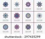 mandala. vintage decorative... | Shutterstock .eps vector #297435299