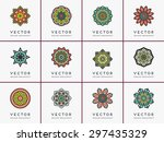 mandala. vintage decorative... | Shutterstock .eps vector #297435329