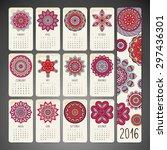 calendar 2016. vintage... | Shutterstock .eps vector #297436301
