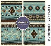 set of trendy seamless... | Shutterstock .eps vector #297443561