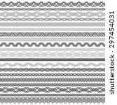 set of vintage borders for... | Shutterstock .eps vector #297454031