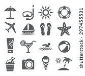 summer icons | Shutterstock . vector #297455531