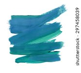 brush stroke. acrylic paint... | Shutterstock .eps vector #297458039
