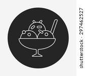 ice cream line icon | Shutterstock .eps vector #297462527