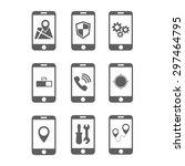 smartphone applications vector...