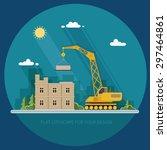 construction site  building.... | Shutterstock .eps vector #297464861