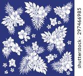 hibiscus flower illustration | Shutterstock .eps vector #297466985
