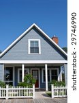 New Beach Cottage for Sale or Rent - stock photo