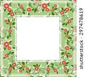 abstract border with floral... | Shutterstock .eps vector #297478619