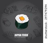illustration of japan food....   Shutterstock .eps vector #297479294
