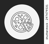 pizza line icon | Shutterstock .eps vector #297479531
