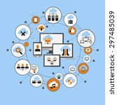 cloud computing system....   Shutterstock .eps vector #297485039
