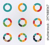 circular infographic template... | Shutterstock .eps vector #297488567