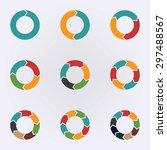 circular infographic template... | Shutterstock .eps vector #297488567