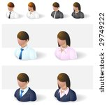 people icons : businessman - stock vector