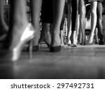 fashion show backstage | Shutterstock . vector #297492731