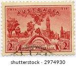Vintage World Postage Stamp Ephemera (editorial) australia - stock photo