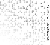 gray white random dots... | Shutterstock .eps vector #297493157