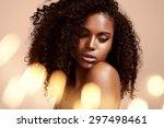 pretty black woman's portrait